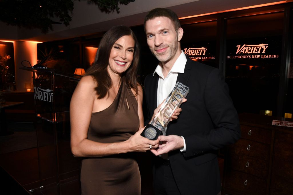 Teri Hatcher and Travis Knight Variety New Leaders, Inside, Los Angeles, USA - 17 Oct 2018