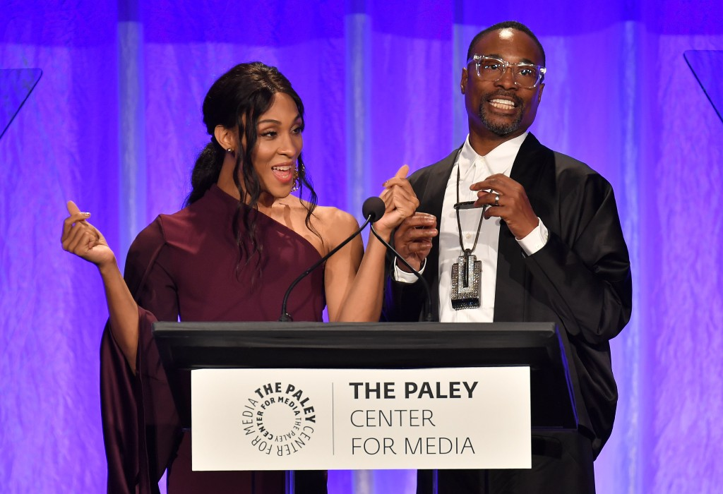 Mj Rodriguez and Billy Porter The Paley Honors: A Gala Tribute to Music on Television, Inside, Los Angeles, USA - 25 Oct 2018