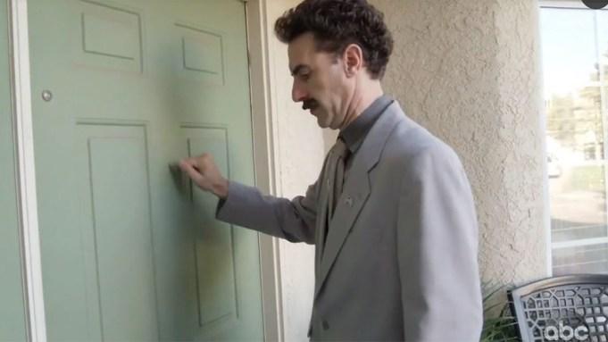Borat Returns for 'Jimmy Kimmel Live!'