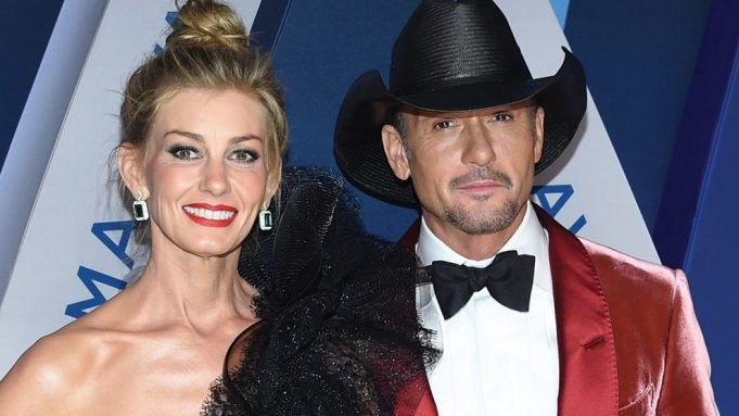 Faith Hill, left, and Tim McGraw