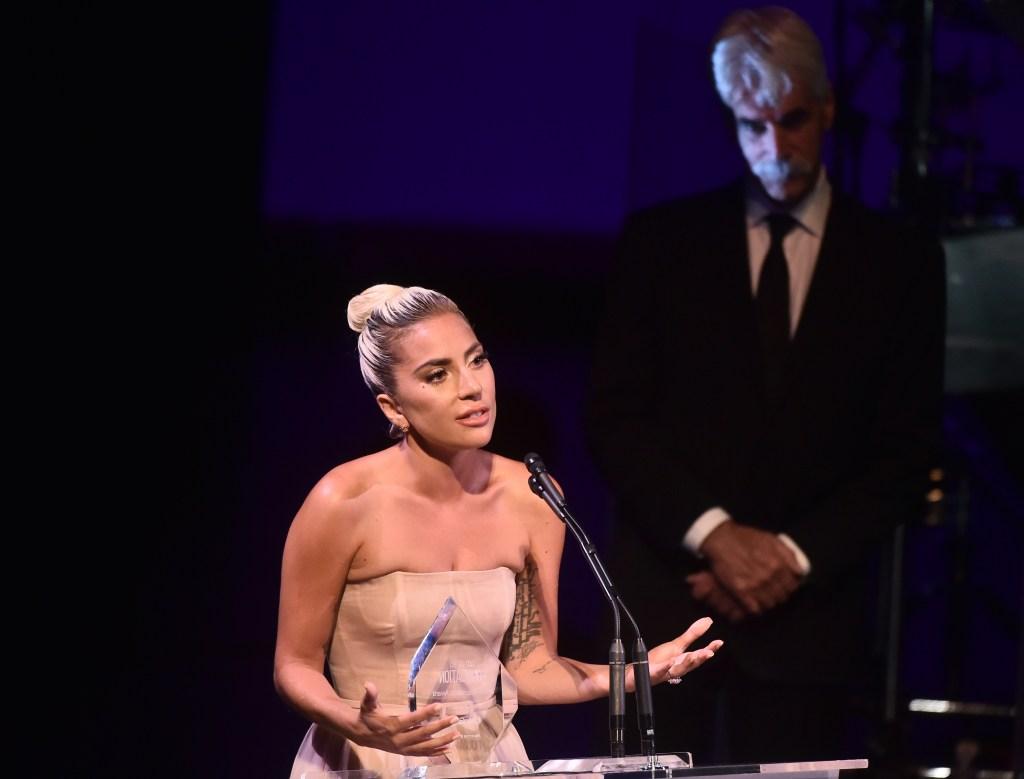 Lady Gaga and Sam Elliott SAG-AFTRA honors Lady Gaga and Harrison Ford, Inside, Los Angeles, USA - 08 Nov 2018