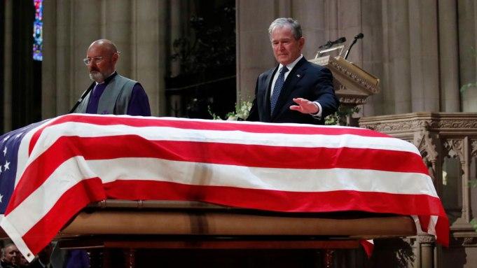 George H.W. Bush funeral George W.