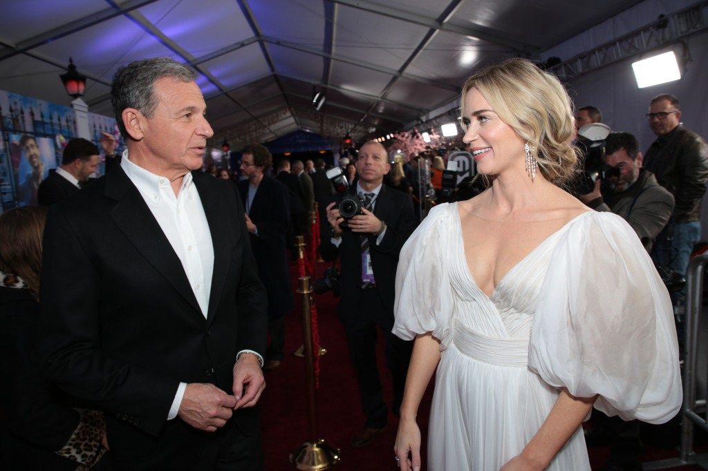 Bob Iger and Emily Blunt attend The World Premiere of Disney's Mary Poppins Returns at the Dolby Theatre in Hollywood, CA on Wednesday, November 29, 2018.(Photo: Alex J. Berliner/ABImages)