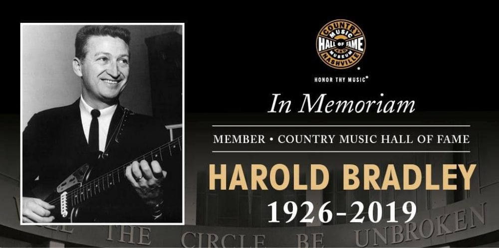 Country Hall of Fame Member Harold Bradley Dies at 93 - Variety