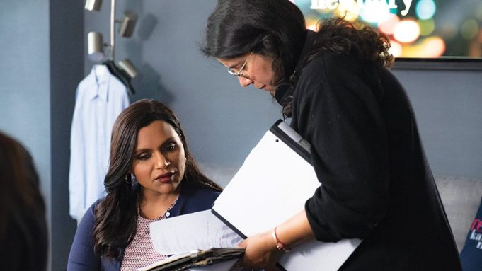 Mindy Kaling (L) and Director Nisha