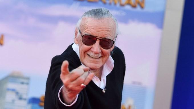 Stan Lee arrives at the Los
