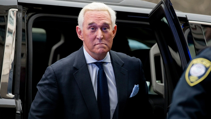 Roger Stone, longtime advisor to President Trump, exits a vehicle upon arriving for his arraignment at the DC Federal Court in Washington, DC, USA, 29 January 2019. On 24 January Special Counsel Robert Mueller indicted Stone on seven charges: five counts of making false statements, one count of obstruction of justice, and one count of witness tampering. Stone pleaded not guilty to the charges.US President Trump advisor Roger Stone arraigned in DC Federal Court, Washington, USA - 29 Jan 2019