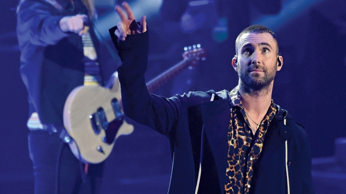Singer Adam Levine performs with Maroon 5 during the 2018 iHeartRadio Music Awards at The Forum, in Inglewood, Calif2018 iHeartRadio Music Awards - Show, Inglewood, USA - 11 Mar 2018