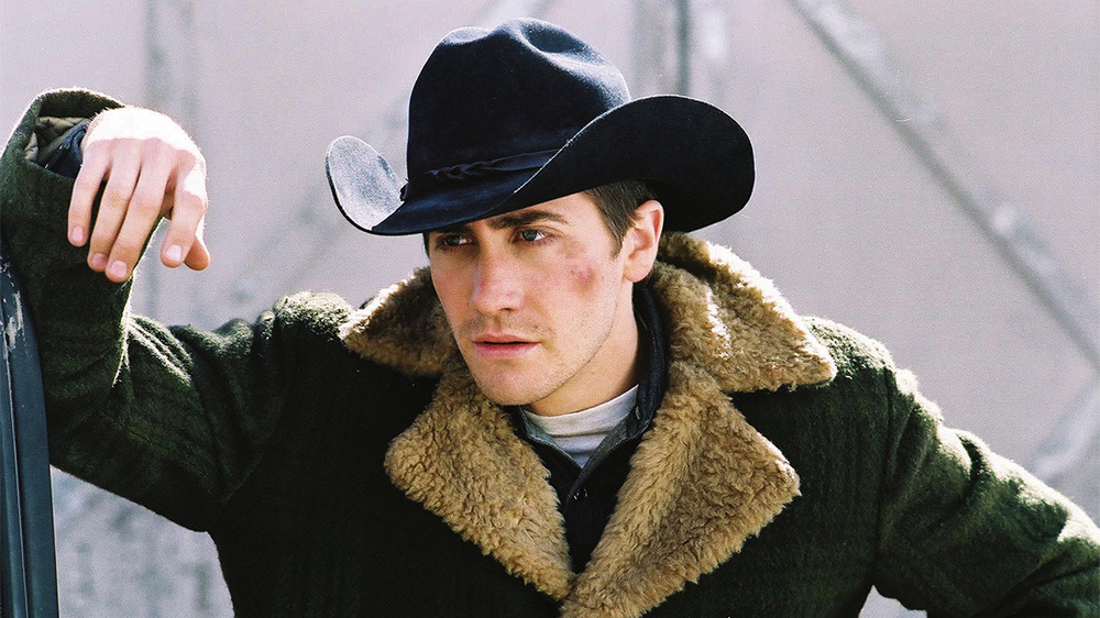 Editorial use only. No book cover usage. Mandatory Credit: Photo by Focus/Kobal/REX/Shutterstock (5884718y) Jake Gyllenhaal Brokeback Mountain - 2005 Director: Ang Lee Focus Features USA Scene Still Drama Le Secret de Brokeback Mountain