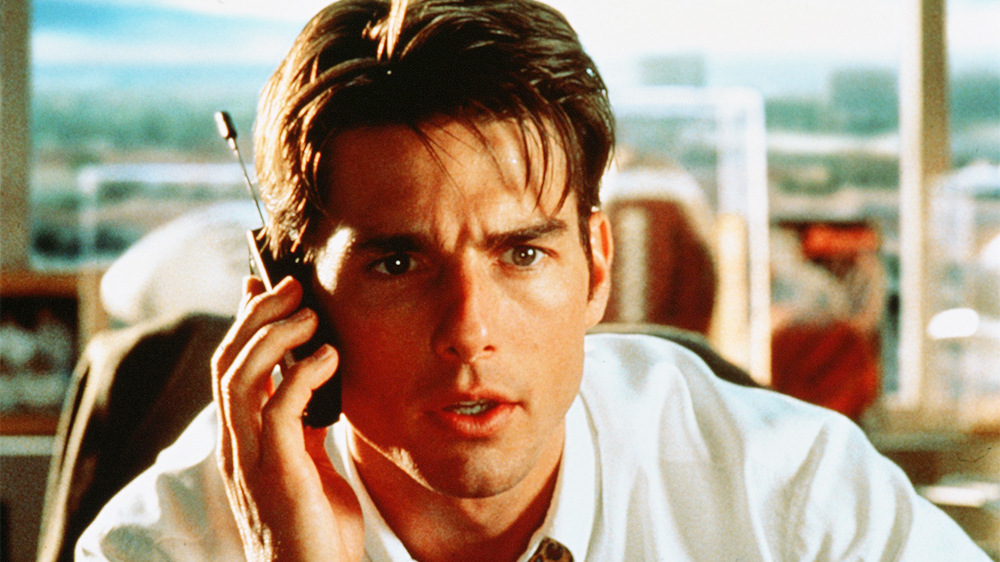 Editorial use only. No book cover usage. Mandatory Credit: Photo by Columbia Tri Star/Kobal/REX/Shutterstock (5884614x) Tom Cruise Jerry Maguire - 1996 Director: Cameron Crowe Columbia Tri Star USA Scene Still Comedy/KBLDRAMA