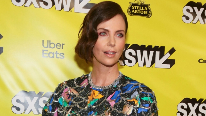 Charlize Theron arrives for the world