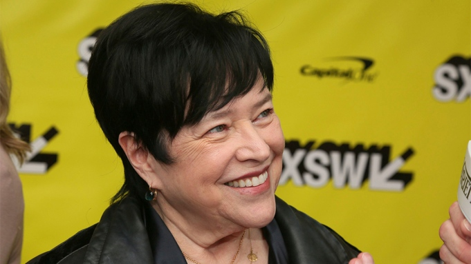 Kathy Bates arrives for the world