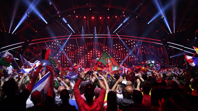 Fans cheer in front of the stage during the Grand Final of the 63rd annual Eurovision Song Contest (ESC) at the Altice Arena in Lisbon, Portugal, 12 May 2018. Twenty-six finalists are competing to win the ESC 2018.Grand Final - 63rd Eurovision Song Contest, Lisbon, Portugal - 12 May 2018