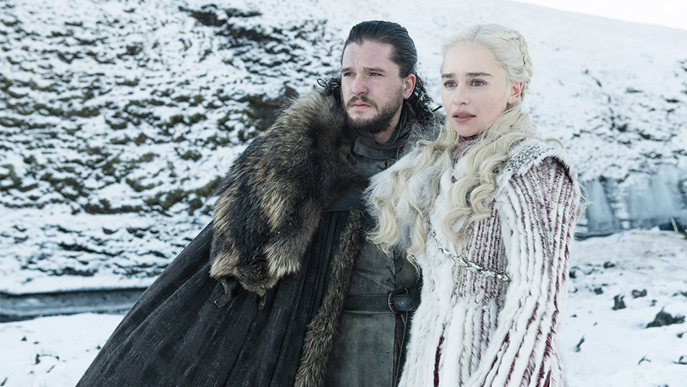 Game of Thrones Season 8Kit Harington, Emilia Clarke.photo: Helen Sloane/HBO
