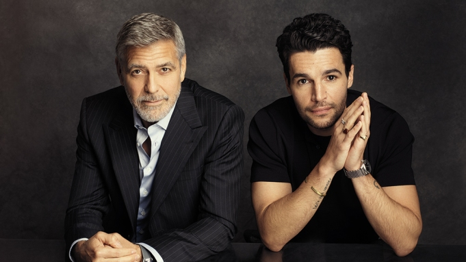 George Clooney (L) and Christophr Abbot