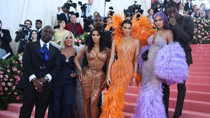 Corey Gamble, Kris Jenner, Kanye West,