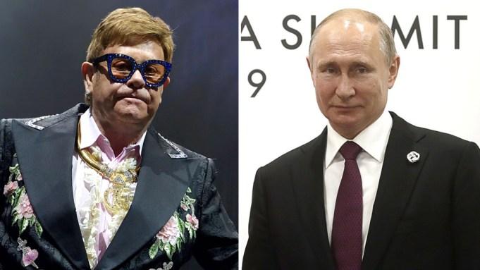 Elton John Vladimir Putin