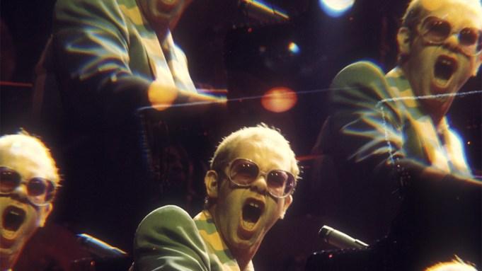 Elton John performing at Earls Court,