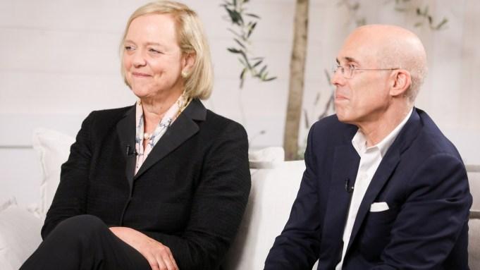 Meg Whitman and Jeffrey Katzenberg