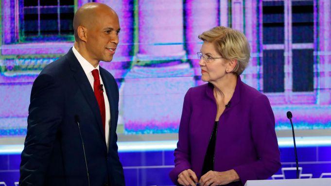 Democratic presidential candidates Sen. Cory Booker,