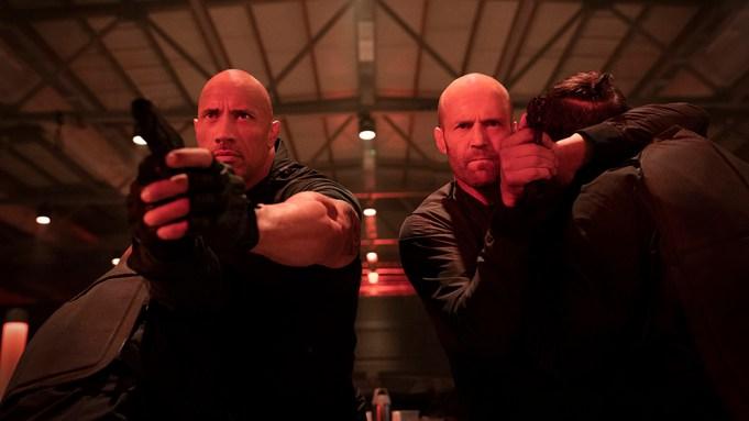 (from left) Luke Hobbs (Dwayne Johnson)