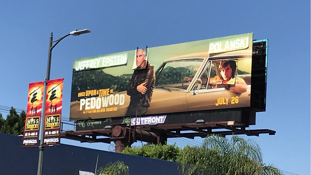 Once Upon a Time in Hollywood Billboard