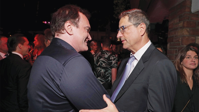 Quentin Tarantino and Sony Tom Rothman