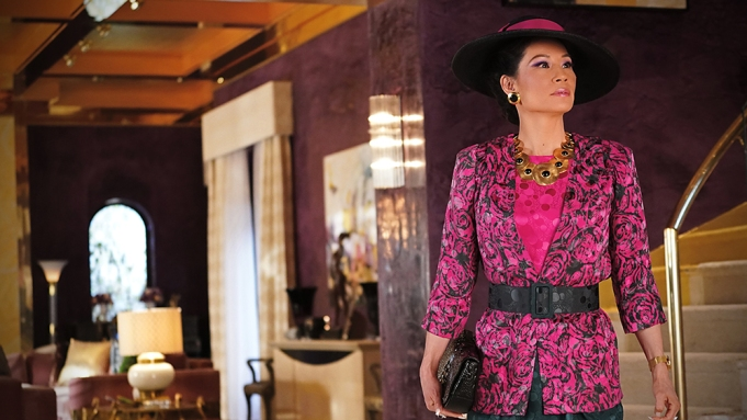 """""""Murder Means Never Having to Say You're Sorry"""" -- Ep#101 -- Pictured: Lucy Liu as Simone of the CBS All Access series WHY WOMEN KILL. Photo Cr: Ali Goldstein/CBS ©2019 CBS Interactive, Inc. All Rights Reserved."""