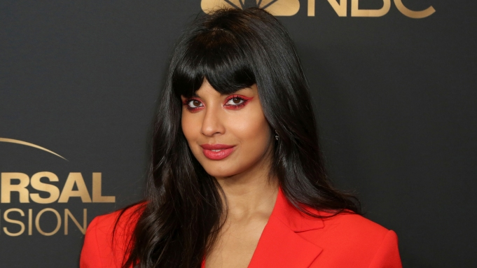 Jameela Jamil attends the NBC and