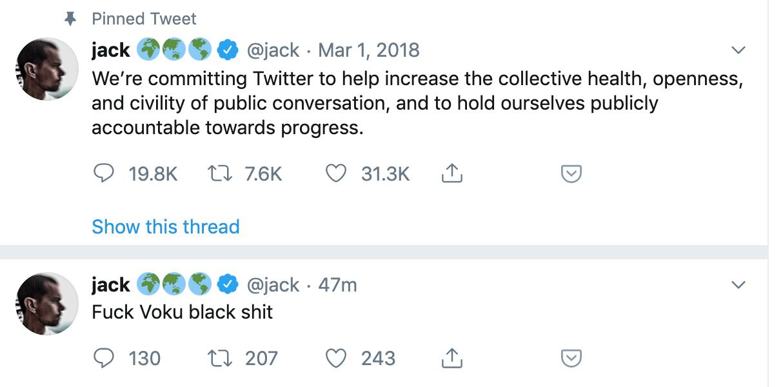 jack dorsey hacked screenshots
