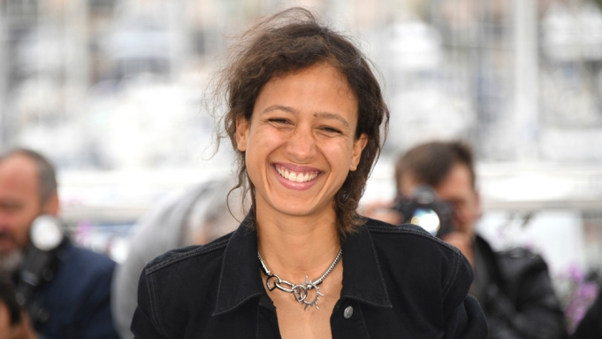 Director Mati Diop poses for photographers