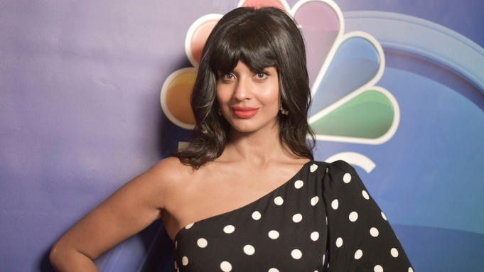 Jameela Jamil attends the NBC red