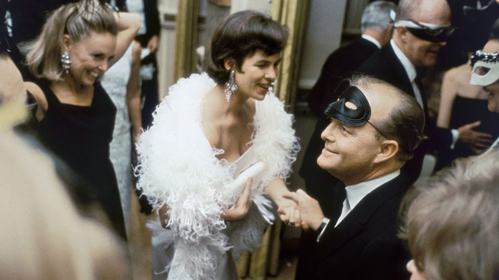 "USA. New York City. 1966. Truman CAPOTE at his ""Black and White Ball"" at the Plaza Hotel."