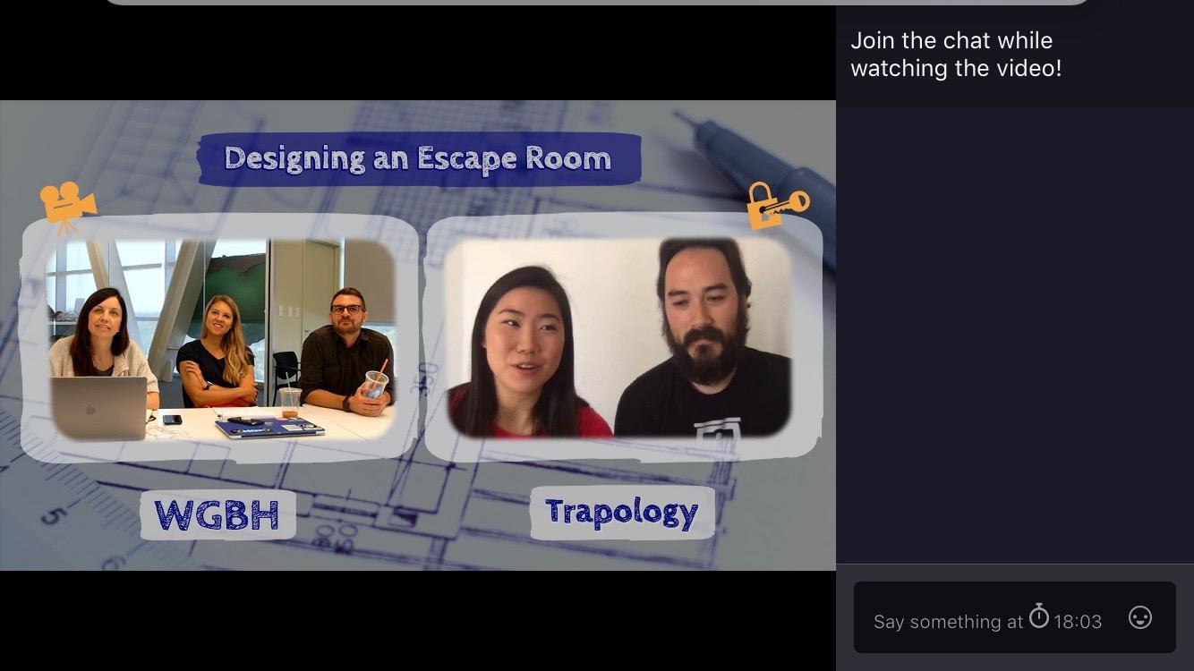 WGBH escape room live stream