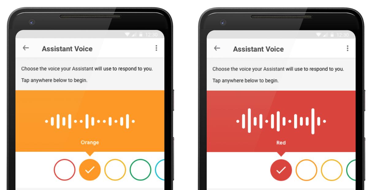 Google Assistant voice choices