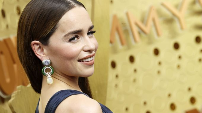 Emilia Clarke arrives for the 71st