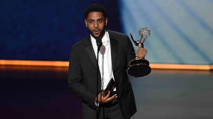 Jharrel Jerome accepts the award for