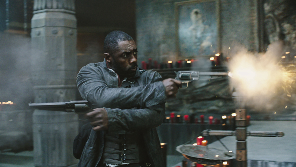 "Editorial use only. No book cover usage. Mandatory Credit: Photo by Sony Pictures/Kobal/Shutterstock (8982421a) Idris Elba ""The Dark Tower"" Film - 2017"
