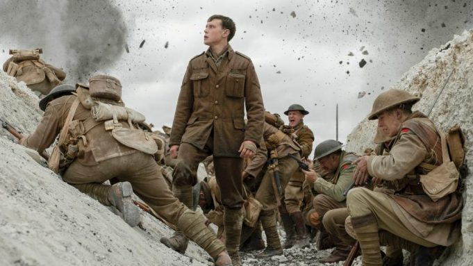 (center) George MacKay as Schofield in