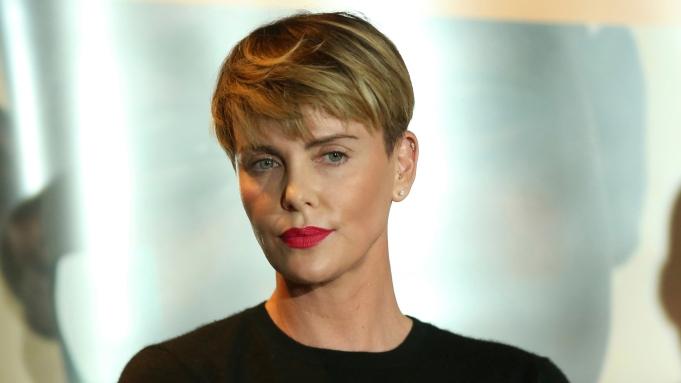 Charlize Theron speaks at the GEANCO