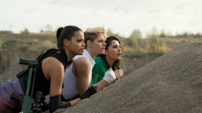 Ella Balinska, Kristen Stewart and Naomi