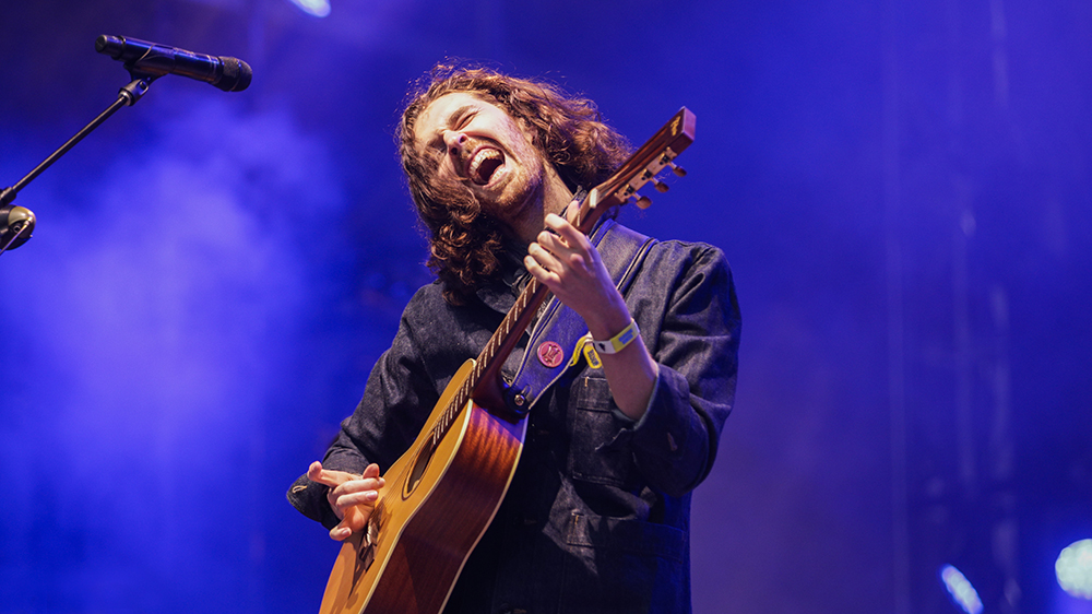 Hozier with guitar