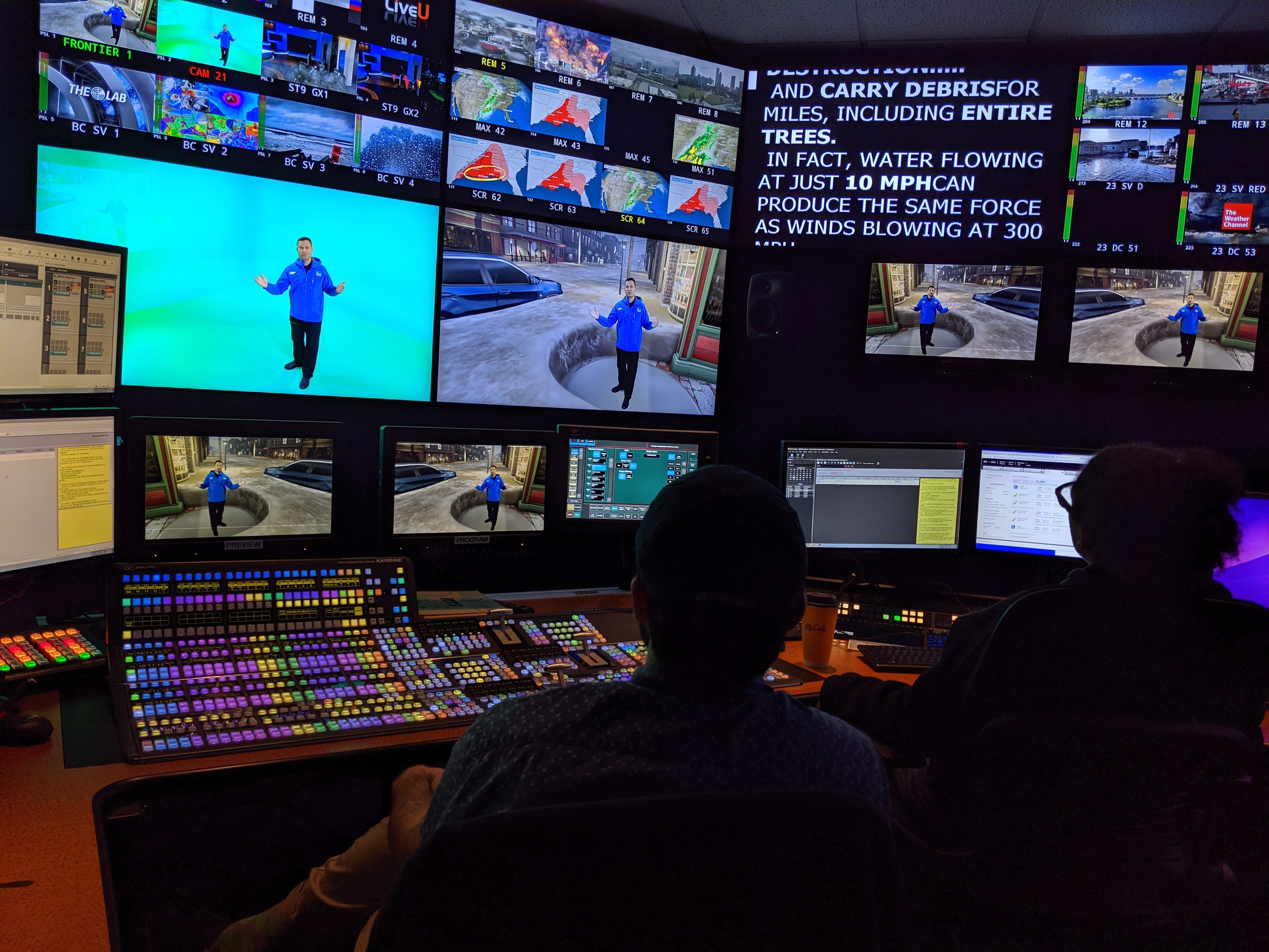Weather Channel control room