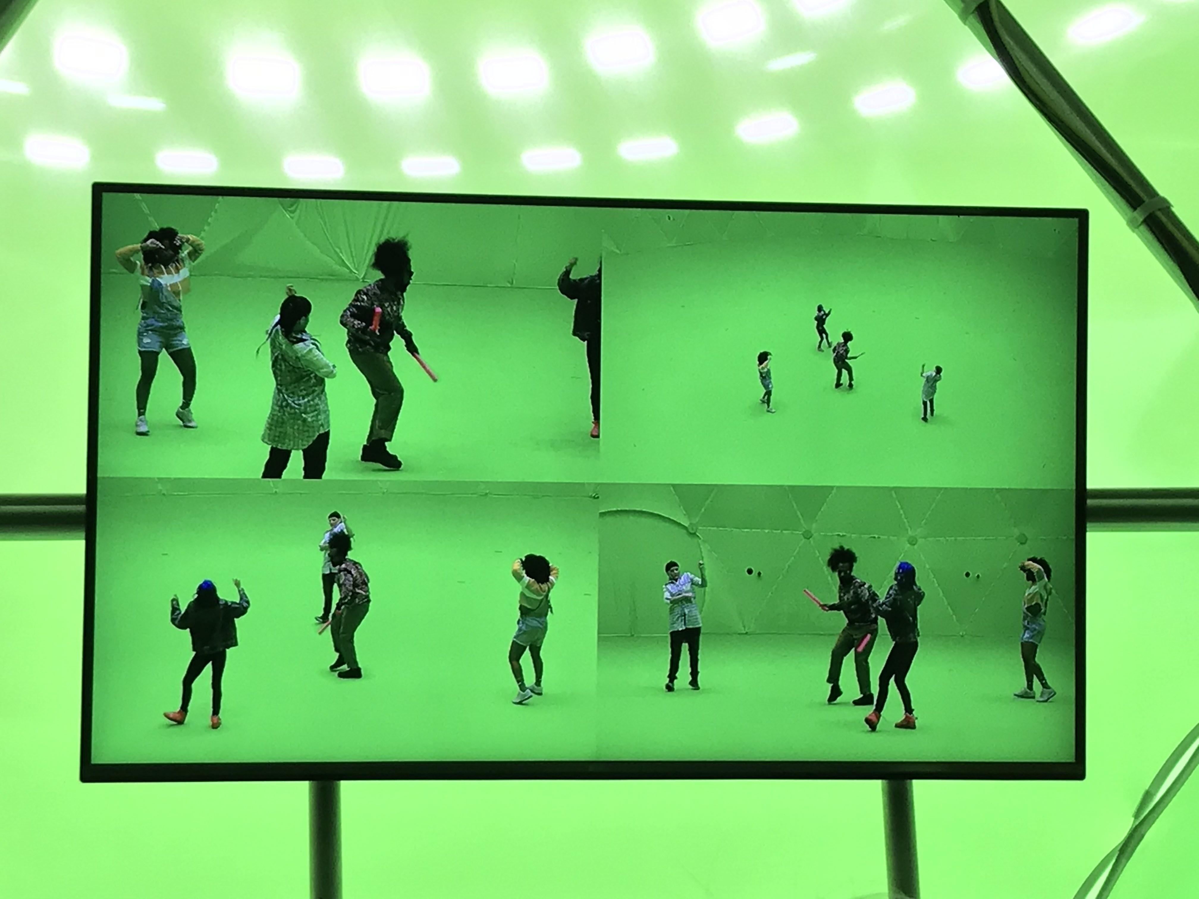Reggie Watts VR shoot