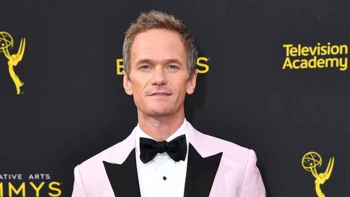 Neil Patrick Harris arrives at night