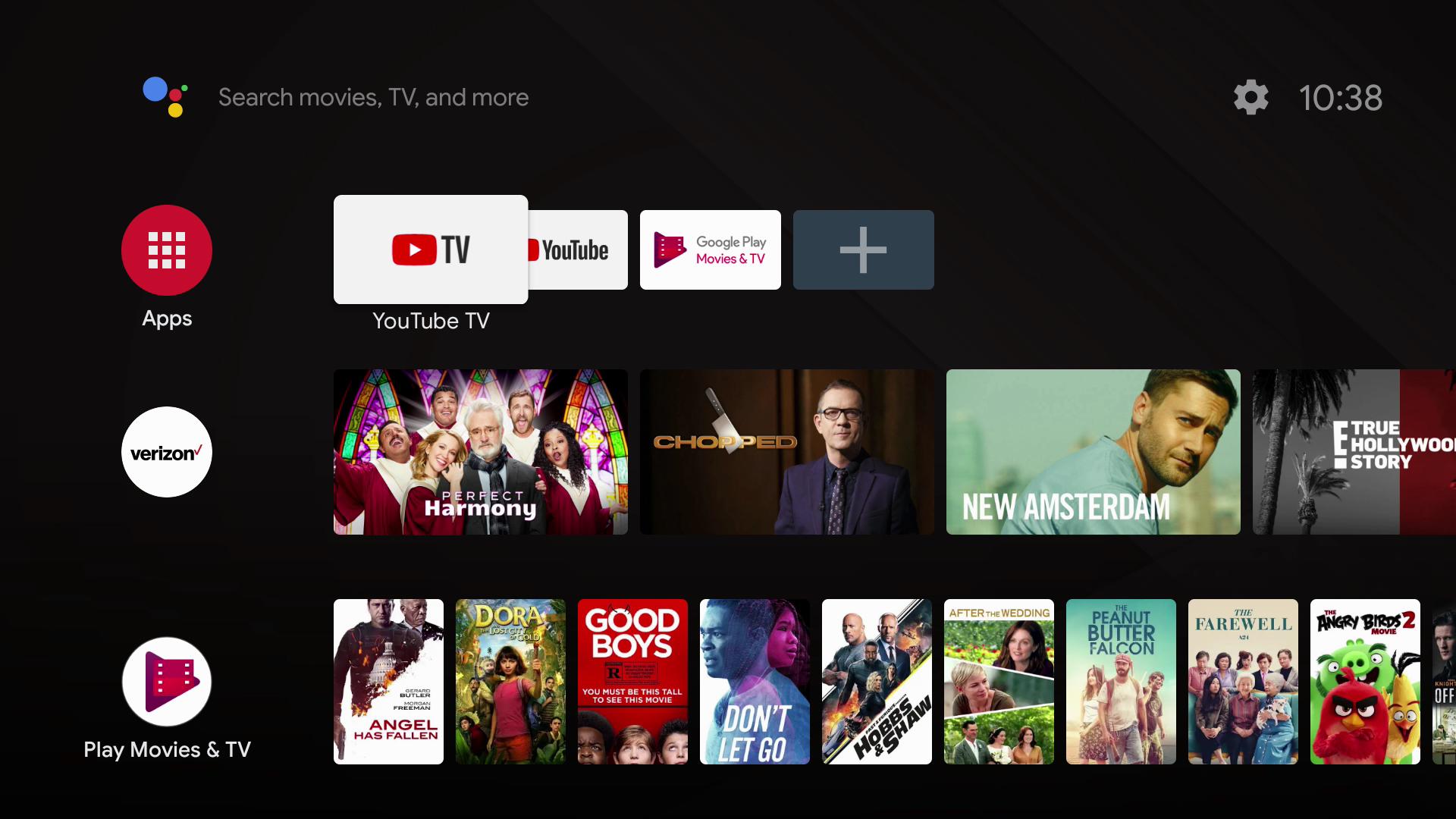 Verizon Stream TV UI