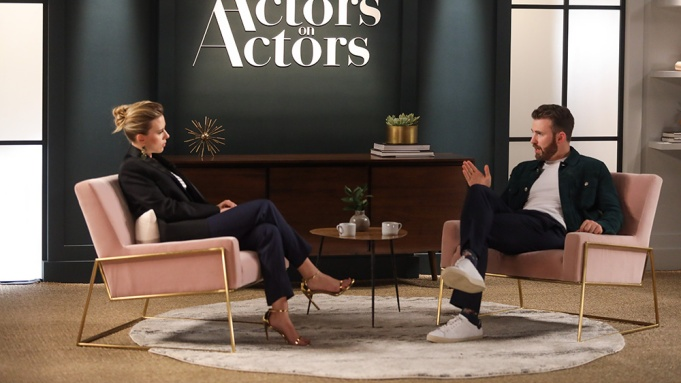 Scarlett Johansson Chris Evans Actors on