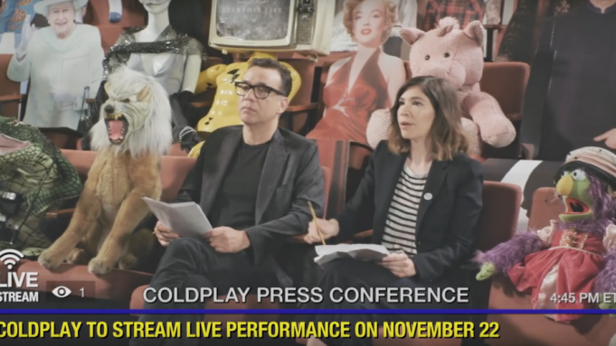 Coldplay Video Has Fred Armisen, Carrie