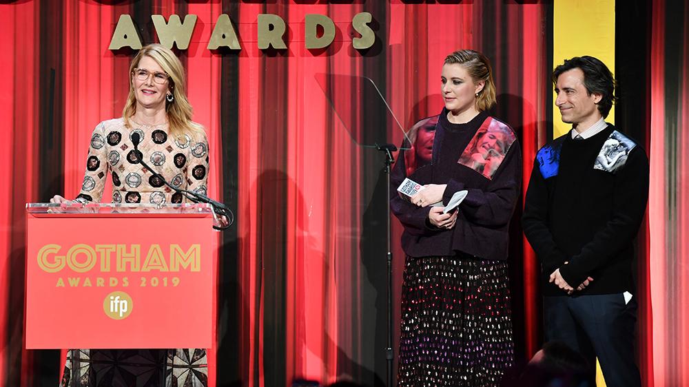 Laura Dern, Greta Gerwig, and Noah Baumbach 29th Annual IFP Gotham Awards, Inside, Cipriani Wall Street, New York, USA - 02 Dec 2019