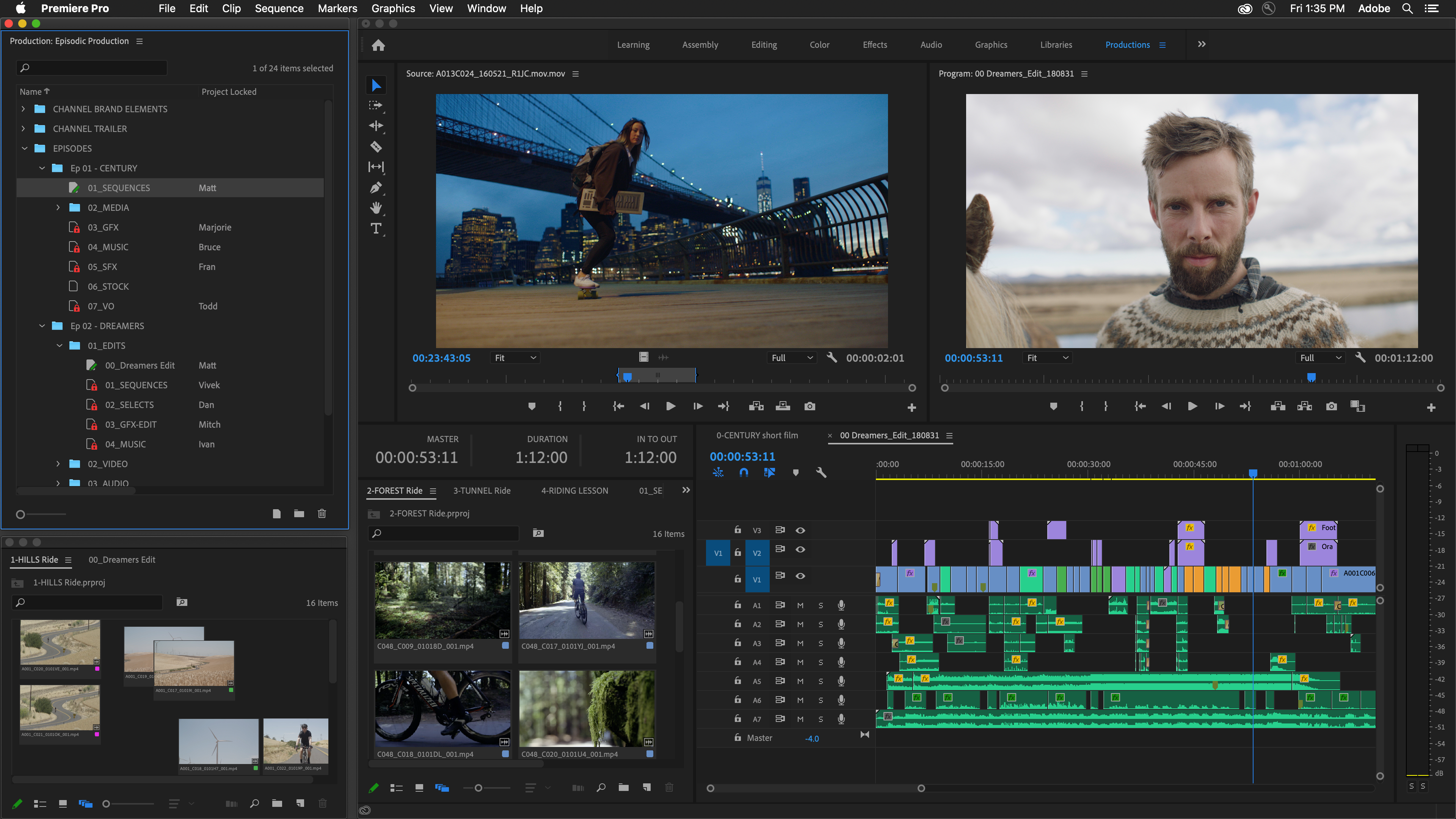 Adobe Premiere Pro Productions Adds Management Collaboration Tools Variety